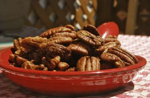 Spicy Roasted Pecans
