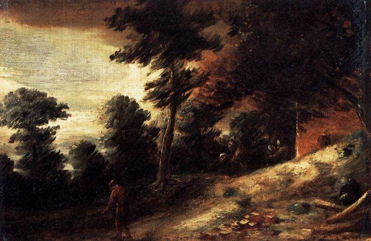 Twilight Landscape by Adriaen Brouwer