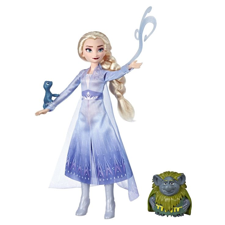 Disney's Frozen 2 Elsa Fashion Doll With Pabbie and Salamander Figures