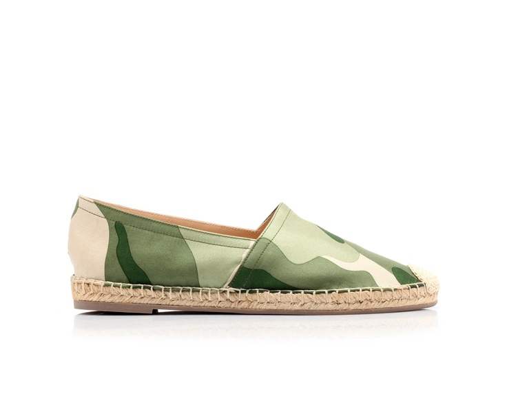 Shoes inspired by the Spanish espadrillas by @Valentino #camo #camouflage