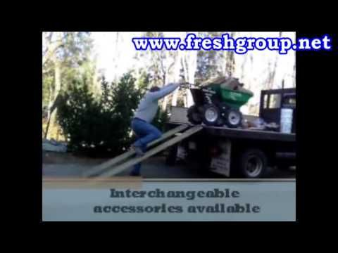 Muck Truck Electric Wheelbarrow. The 4WD Electric Wheelbarrow manufactured by Muck Truck UK. The Electric Power Barrow is most suited to indoor use where a normal Muck Truck cannot be used due to fumes and emissions. Used by builders, landscapers for moving building materials. http://www.fresh-group.com/electric-muck-truck.html