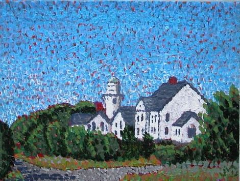 Joseph M Dunn, Cape Elizabeth Lighthouse 2 on ArtStack #joseph-m-dunn #art