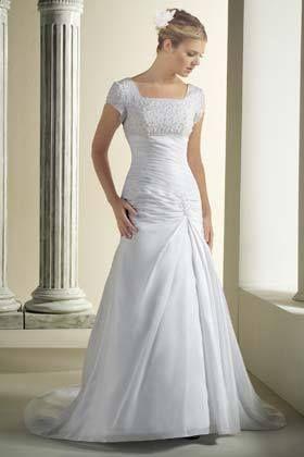 Un lindo y modesto vestido de novia moda pinterest for Wedding dresses in modesto ca