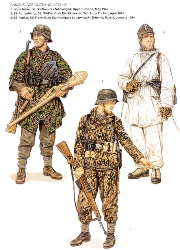SS Camouflage clothing 1944 - 1945