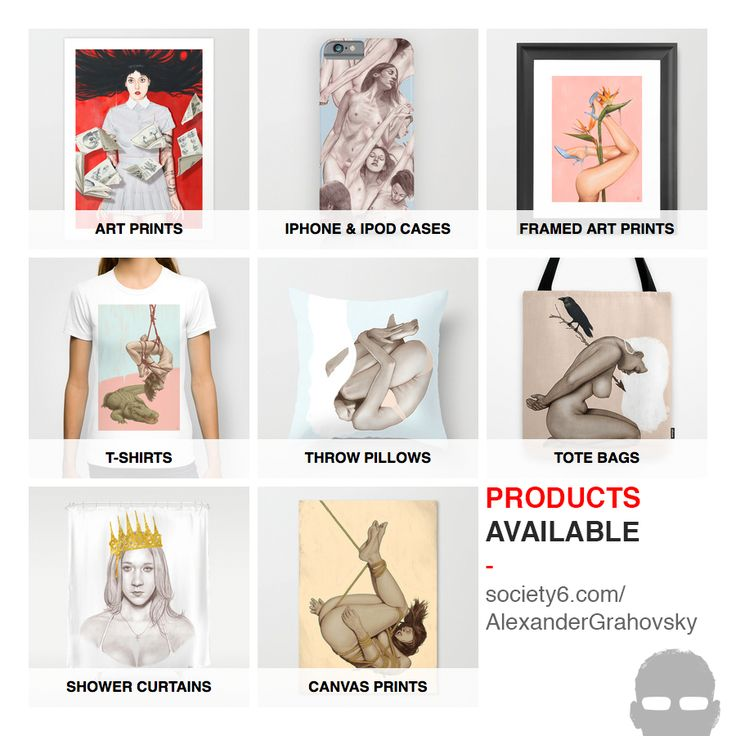 New products added at my Society6 shop, treat yo self!  http://society6.com/alexandergrahovsky