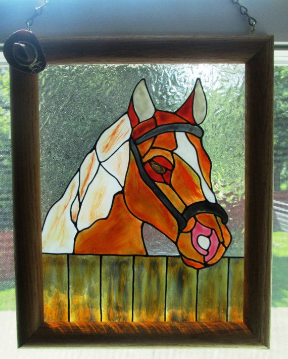 17 best images about stained glass horses on pinterest for Decoration fenetre vitrail