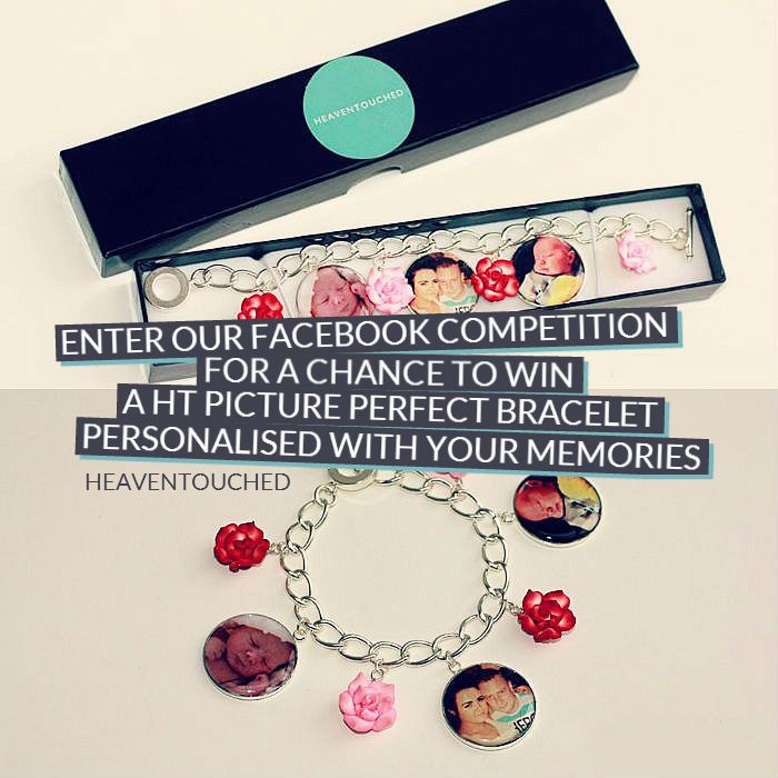Day 100 - #Competition time! Fancy winning yourself a HT Picture Perfect bracelet personalised with your memories? Head on over to Facebook to find out how! http://heaventouched.co.uk/2014/08/heaven-touched-participated-100-happy-day-challenge/