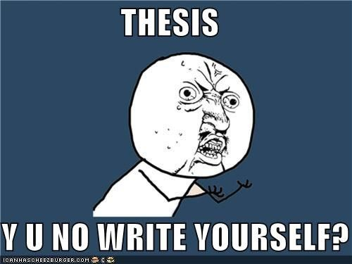 Master thesis opinion