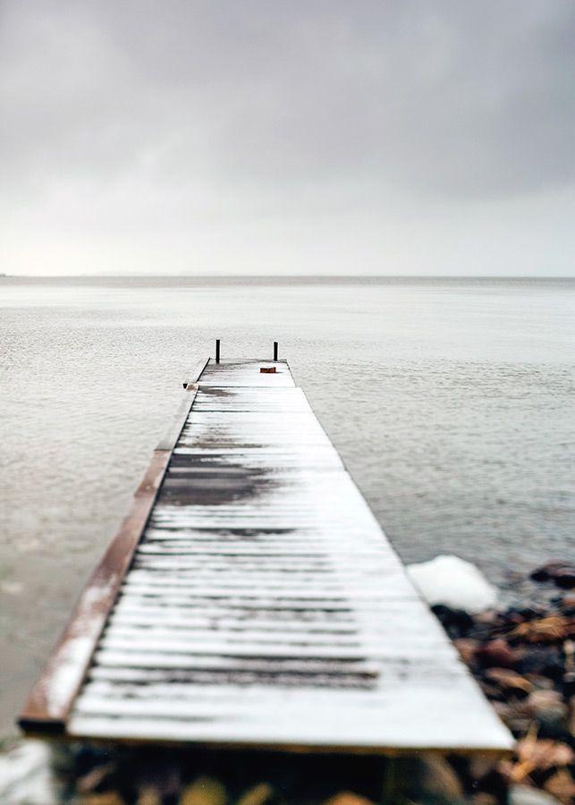 Sweden, Vänern, Winter, Lake , Clouds, Monika Manowska