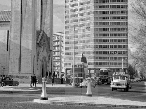 Praça de Londres, Lisboa, c. 1969. Artur Pastor, in Arquivo Fotográfico da C.M.L..