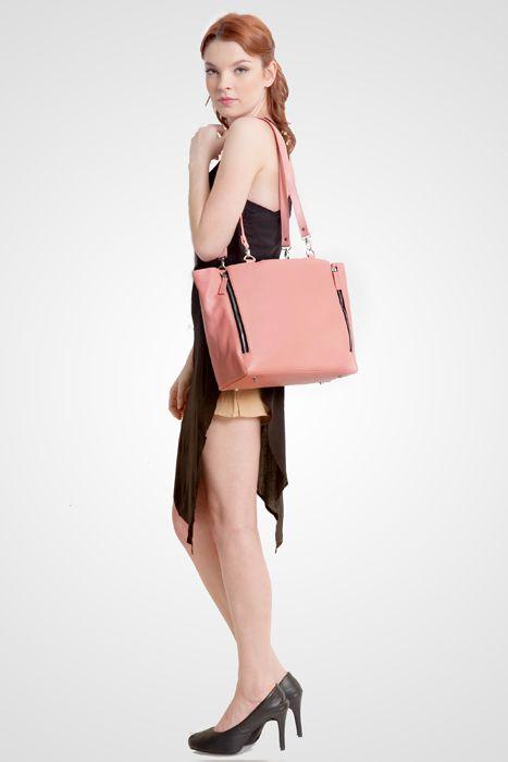 Marguerite bag #handbag #taswanita #bags #fauxleather #kulit #fashionable #stylish #totebag #colors #pink Kindly visit our website : www.zorrashop.com