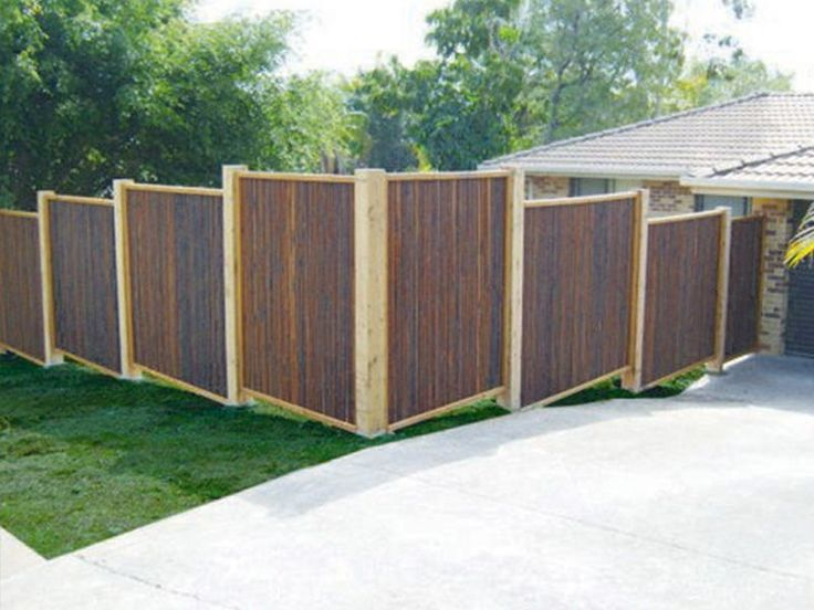Bamboo fencing or bamboo screening panels are easy to