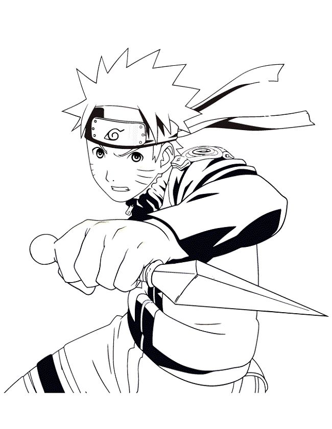 pictuers of naruto coloring pages