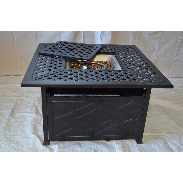 Newport Aluminum Propane Fire Pit Table by K B Patio