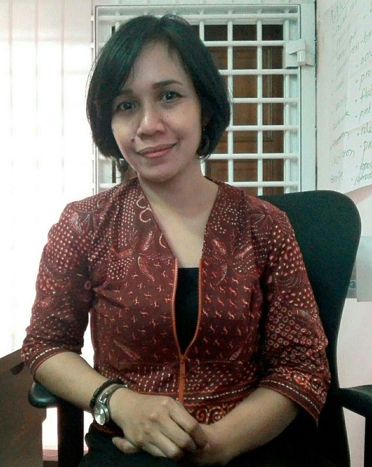 Brown batik jacket - self made