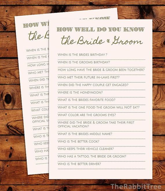How Well Do You Know The Bride and Groom Blush by TheRabbitTree