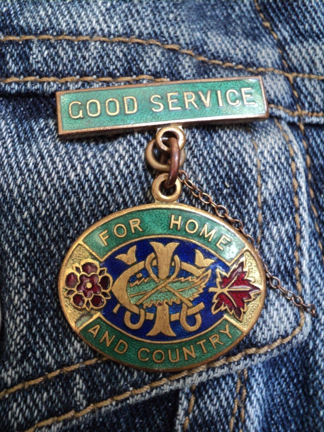 NZ Country Women's Institute Good Service badge