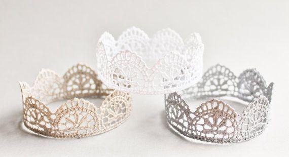 Vintage Lace Crown, Photo Prop, Infant Crown Tiara, You Choose Color, Infant Lace Crown, Boy or Girl, Newborn Photo Prop, Unisex