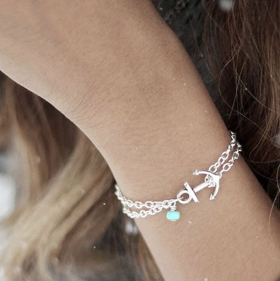 Hey, I found this really awesome Etsy listing at https://www.etsy.com/listing/116385325/anchor-bracelet-turquoise-anchor