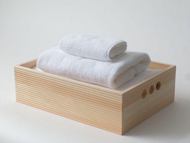 Hinoki Towel Tray