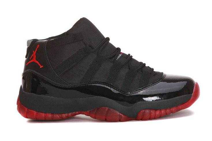 Authentic Cheap Air Jordan 11 Wholesale Jordan 11 Retro Black Red Custom Shoe