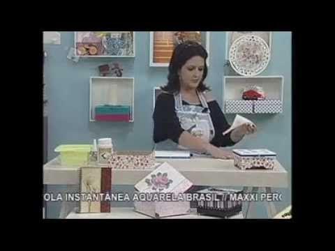 ▶ Caixinha com Decoupage - Aquarela Brasil - Marisa Magalhães - YouTube