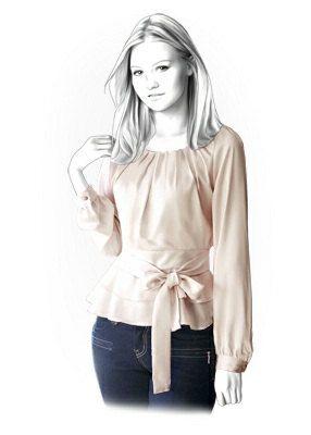 4253 PDF coser patrones para la blusa, personalizado para el tamaño de encargo, mujeres ropa