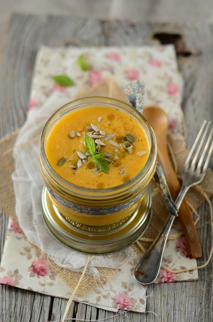 Gaspacho de melon, concombre et menthe