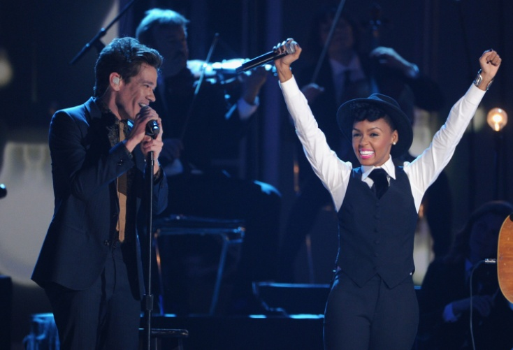 "Fun.'s Nate Ruess and Janelle Monáe perform on ""The GRAMMY Nominations Live!! — Countdown To Music's Biggest Night"" on Dec. 5 in Nashville.  Tune in to the 55th GRAMMY Awards on 2/10/13 on CBS! #TheWorldIsListening  Photo: Kevin Winter/Getty Images"