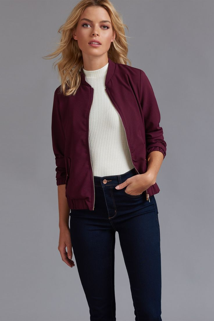 Wear this lightweight soft bomber like all your fave bloggers and celebs over a slip dress or casual with distressed denim and a tee.