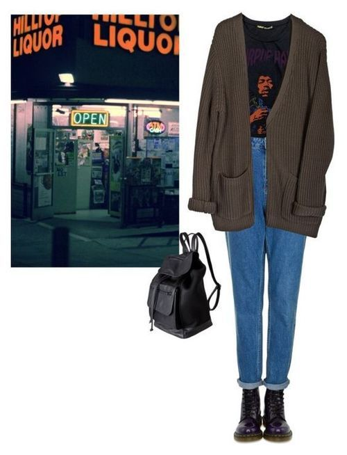 """""""liquor"""" by junk-food ❤ liked on Polyvore featuring Fanpac, Dr. Martens, Topshop, Cheap Monday and Pieces"""