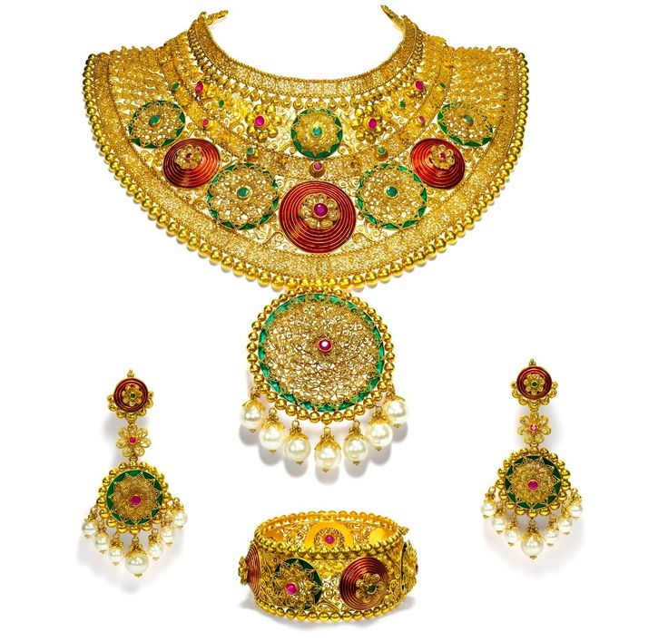 123 best Bridal Jewelry images on Pinterest | Gold decorations ...