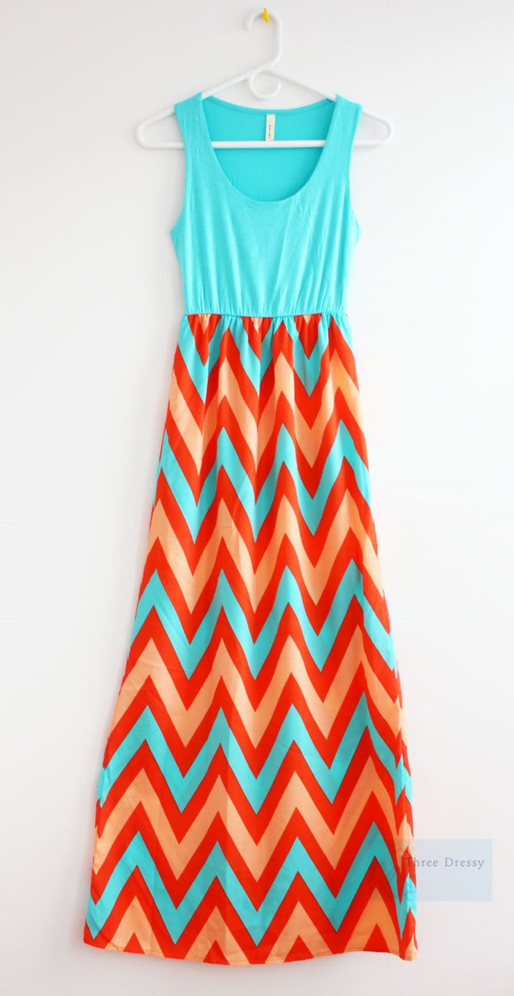 Summer Maxi Dress Chevron Maxi Dress Causal Maxi Dress Long Dress Summer Maxi Dress Sun Dress Beach Wear Summer Time Boho Maxi Dress Chevron by ThreeDressy on Etsy https://www.etsy.com/listing/130265275/summer-maxi-dress-chevron-maxi-dress
