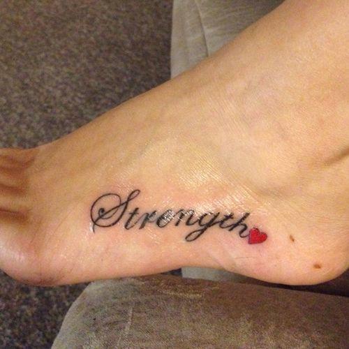 Word Tattoos On Foot | Foot Tattoo