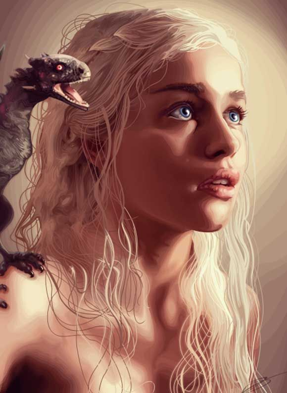 Amazing Daenerys Targerean illustration