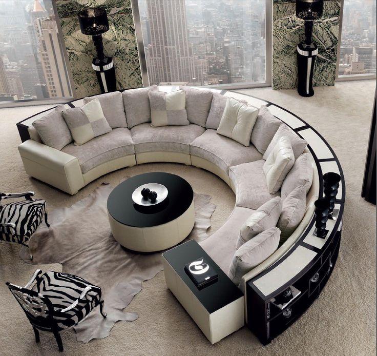 Wohnzimmer Couch Sitzecke Lounge Sofa Grau Luxus