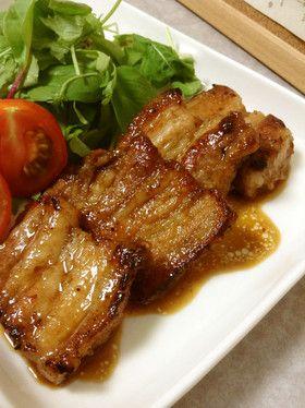 豚バラ肉のバルサミコソテー