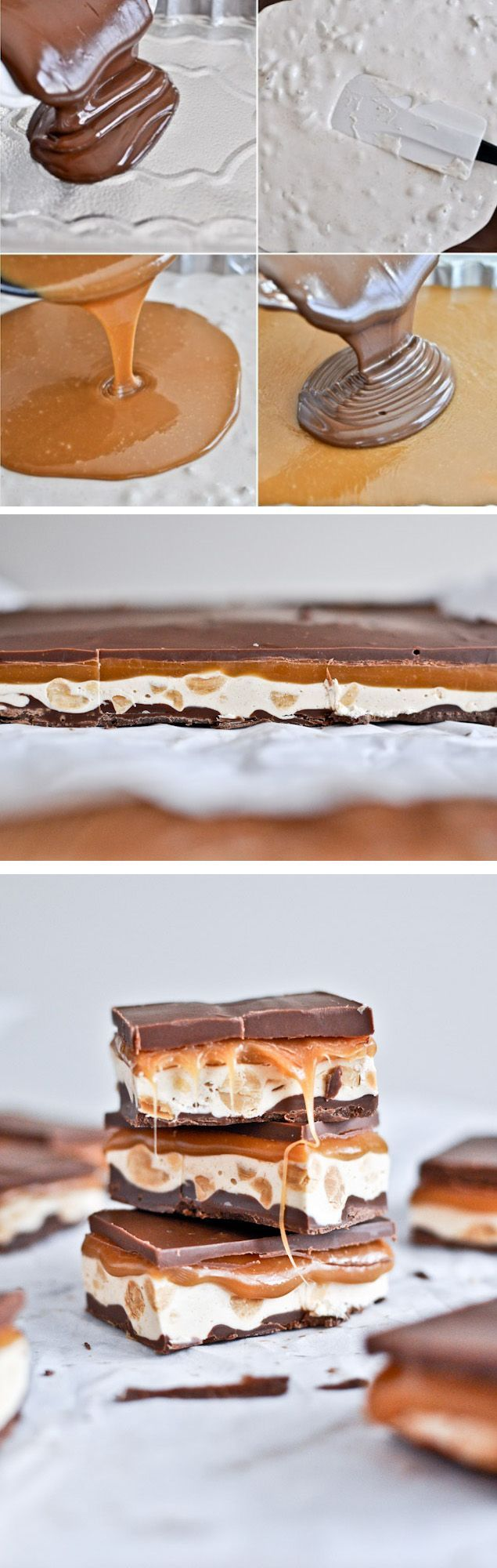 homemade snickers bars | Tastefulonly