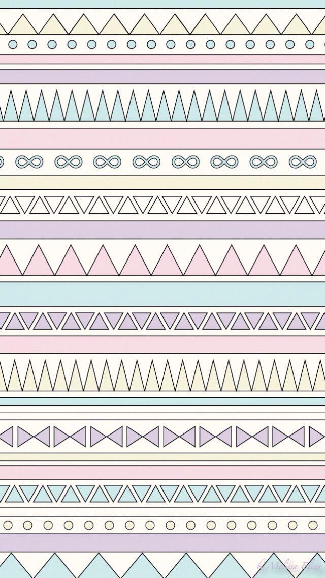 Pastel Tribal Iphone Wallpaper