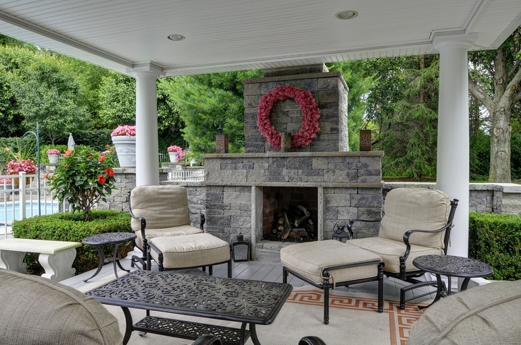115 best images about outdoor living spaces on pinterest outdoor living fireplaces and wood. Black Bedroom Furniture Sets. Home Design Ideas