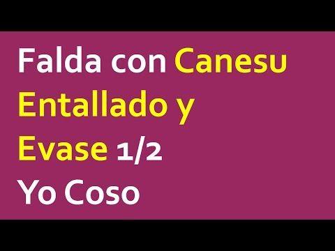 Falda con Canesu Entallado y Evase 1/2 - YouTube