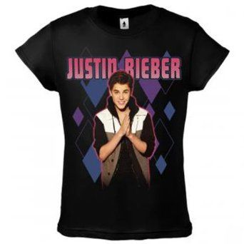 Amazon.com: Justin Bieber T-shirt Argile Purple Juniors ... - photo #3
