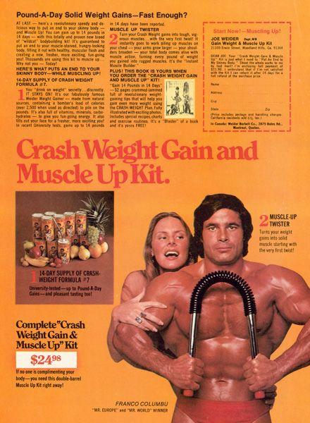 Vintage Weider Magazine Ads | Joe Weider | Vintage Hunks ...