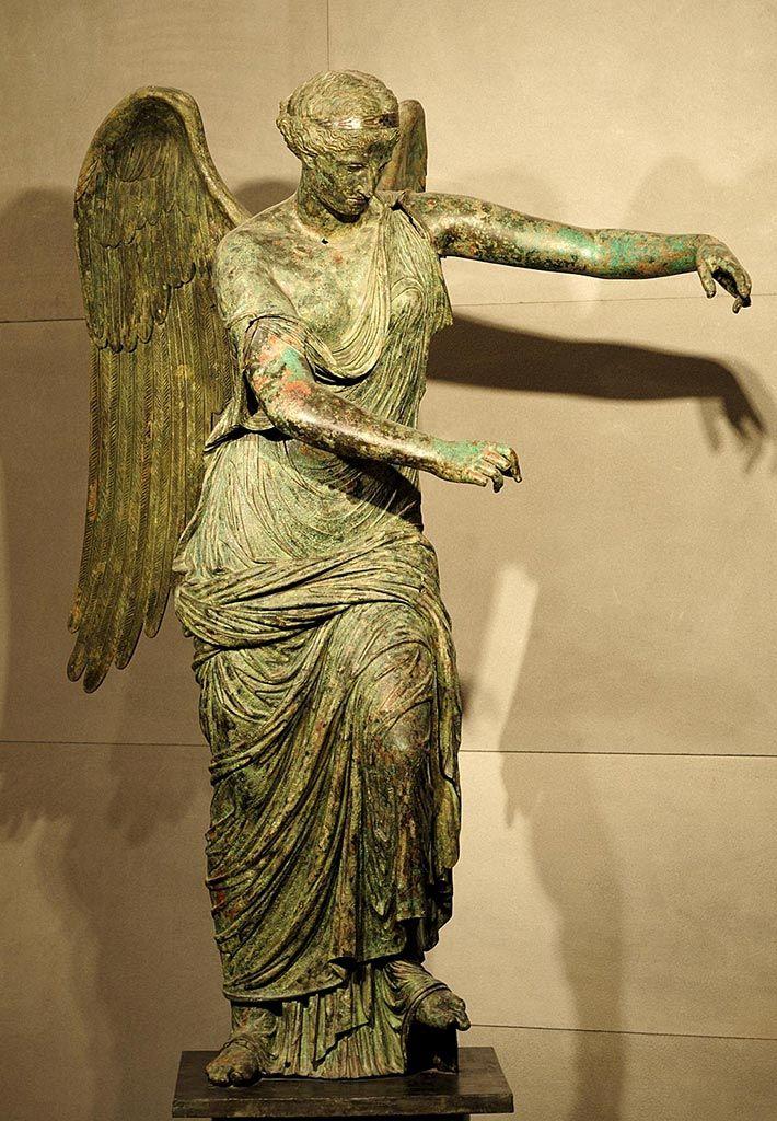 Winged Victory. Bronze. 1st century CE. H. 200 cm. Inv. No. MR 369. Brescia, Santa Giulia Civic Museum