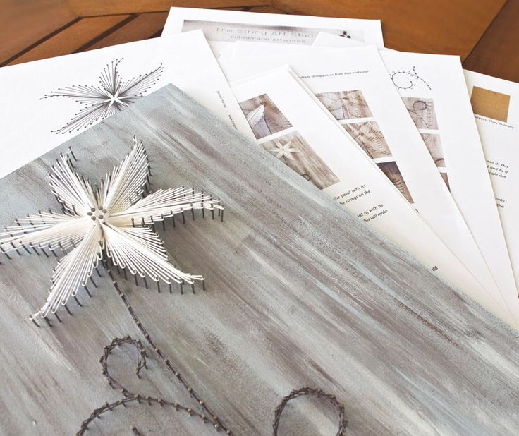 String art pattern & instructions The Lily DIY