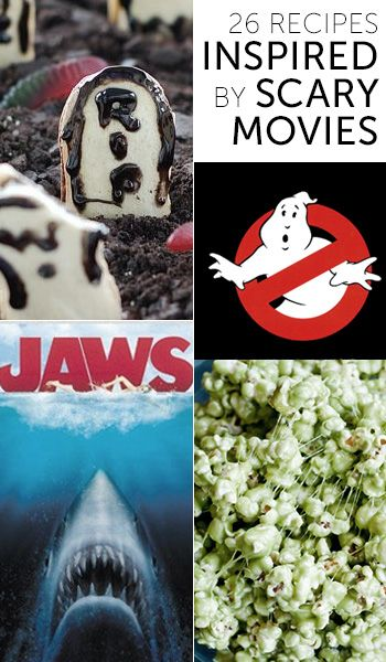 Want to create a fun movie-theater experience at home this Halloween? Try one of these 26 tasty snacks and meals inspired by scary flicks, on Babble.