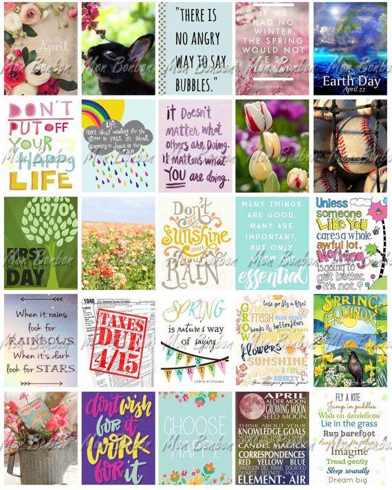 April Monthly Planner bedruckbare Aufkleber Blatt