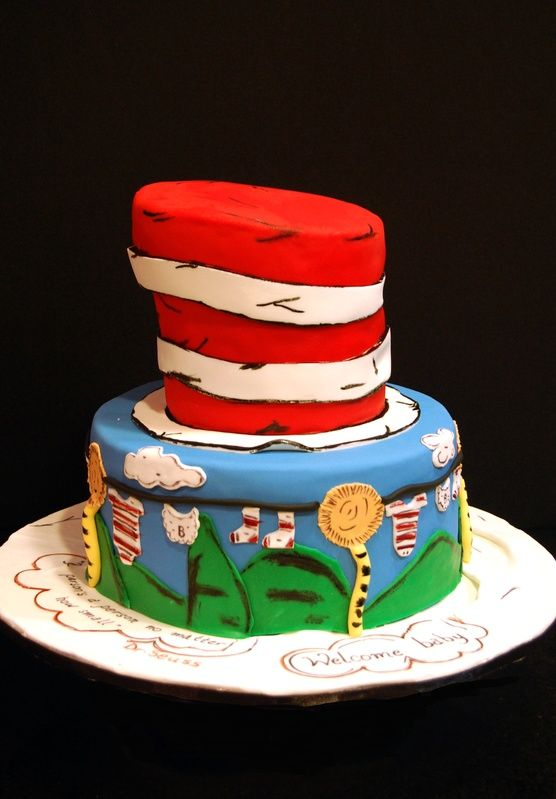 Dr Seuss Baby Shower Cakes | Dr. Seuss Themed Baby Shower Cake   Mariau0027s  Dream