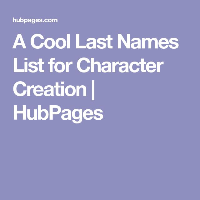 The 25 Best Last Names List Ideas On Pinterest