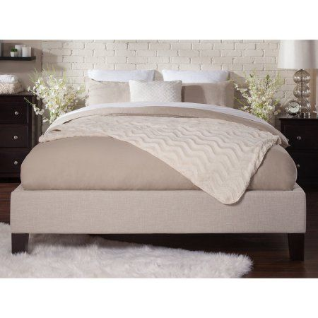 Atlantic Furniture Upholstered Queen Traditional Bed Frame